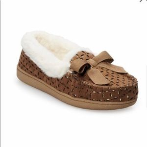 Womens Sonoma Microsuede Moccasin Slippers L(9-10)